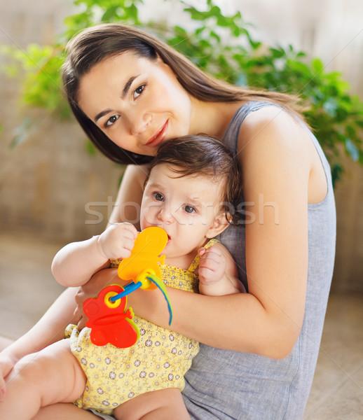 Mãe oito mês velho menina Foto stock © dashapetrenko