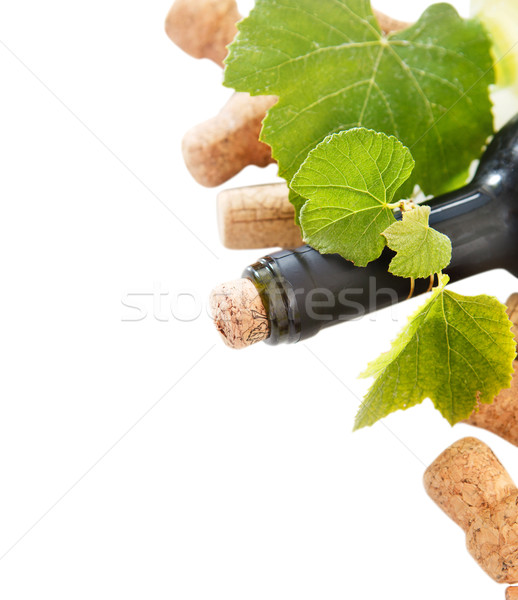 Dated wine bottle corks and bottle Stock photo © dashapetrenko