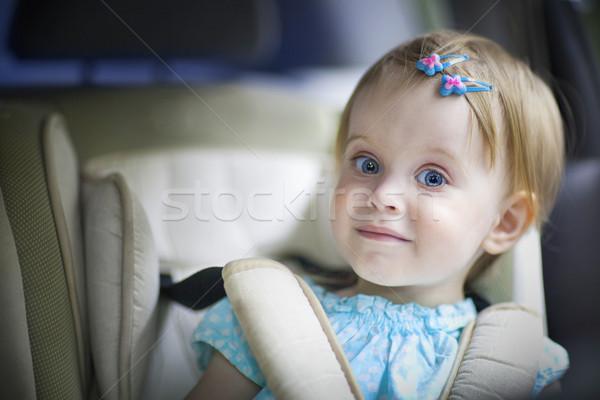 Сток-фото: счастливым · мало · автомобилей · сиденье · портрет