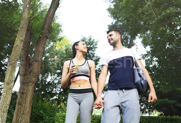 Lopen park sport activiteit jonge Stockfoto © dashapetrenko