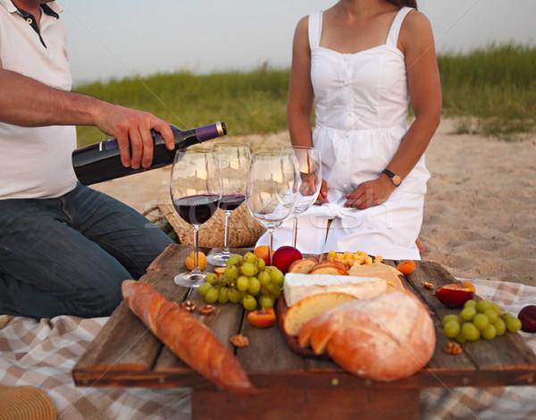 Personnes vin extérieur fête homme Photo stock © dashapetrenko