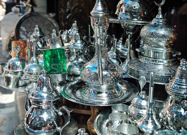 Tradicional metal bens compras Tunis projeto Foto stock © dashapetrenko