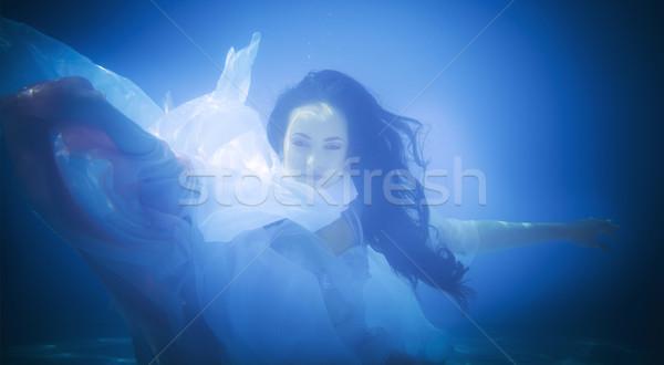 Photo stock: Subaquatique · portrait · femme · piscine · eau