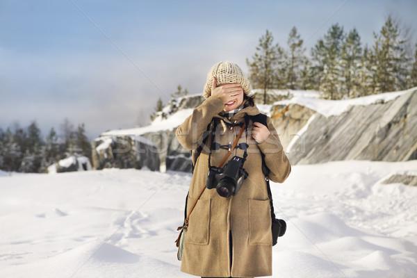 профессиональных женщины фильма фотограф Россия мрамор Сток-фото © dashapetrenko