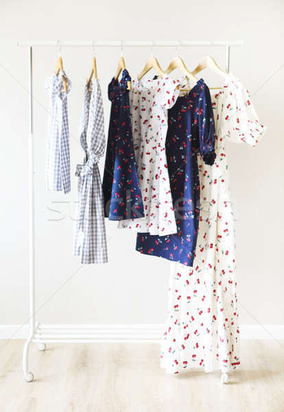 Women's clothes. Dresses for mother and daughter Stock photo © dashapetrenko