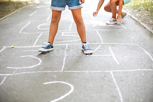 Kid играет площадка улице детей Открытый Сток-фото © dashapetrenko