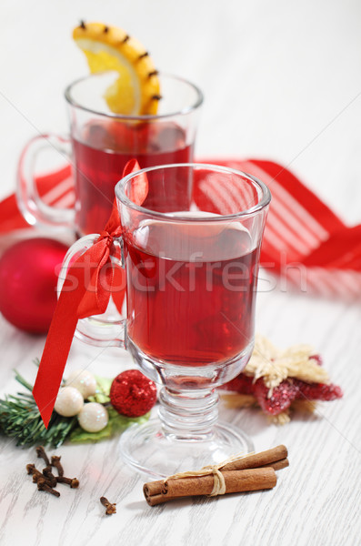 cranberry punch with Christmas decoration Stock photo © dashapetrenko