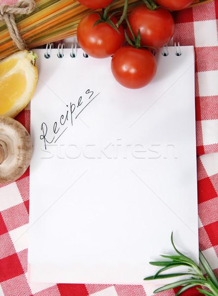 Sebze natürmort yemek tarifleri kitap uzay yeşil Stok fotoğraf © dashapetrenko