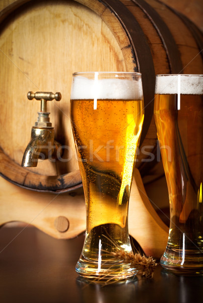 Still life with a draft beer Stock photo © dashapetrenko