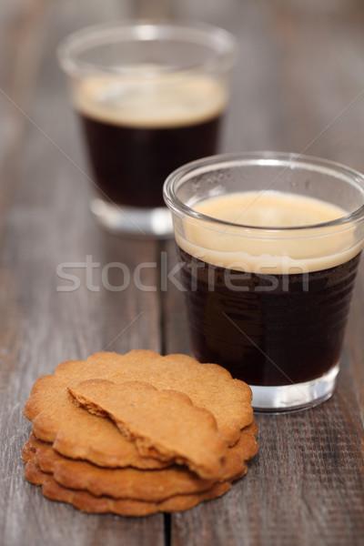 Caldo espresso caffè cookies Natale alimentare Foto d'archivio © dashapetrenko