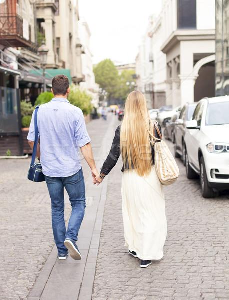 счастливым пару любви ходьбе город Грузия Сток-фото © dashapetrenko