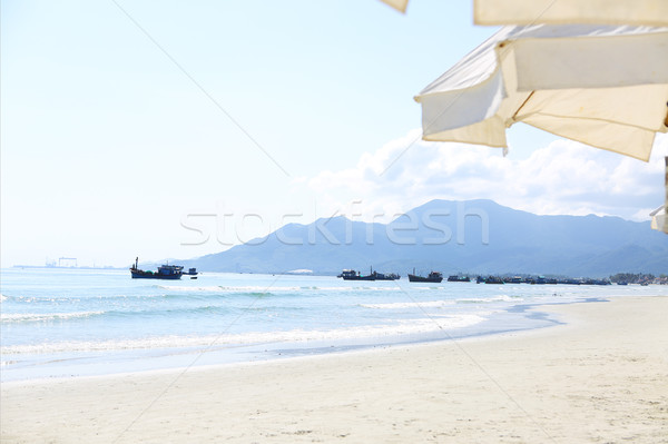 Boats on the Zoklet beach. Vietnam landscape.  Stock photo © dashapetrenko