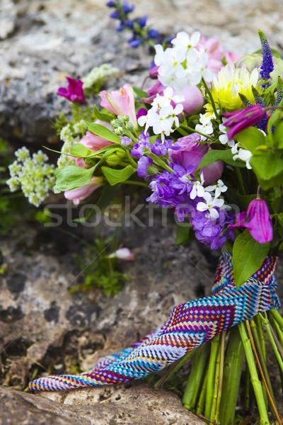 Rustic Wedding bouquet of colorful flowers  Stock photo © dashapetrenko