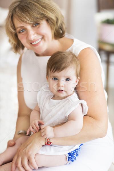 Grand-mère fille femme Photo stock © dashapetrenko