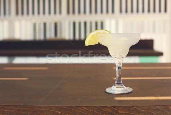 Koktél üveg szabadtér bár pult buli Stock fotó © dashapetrenko