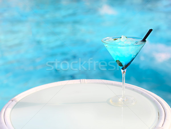 Esotiche cocktail bianco tavola alcol alimentare Foto d'archivio © dashapetrenko