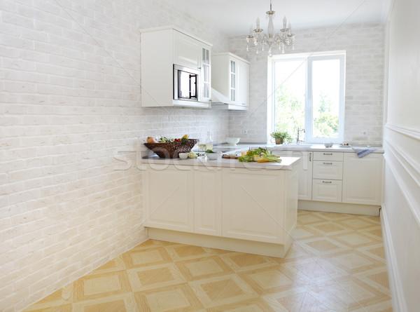 クラシカル 白 キッチン ホーム 健康食品 家 ストックフォト © dashapetrenko