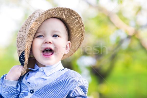 Stok fotoğraf: Sevimli · mutlu · kafkas · bebek · erkek · bahar