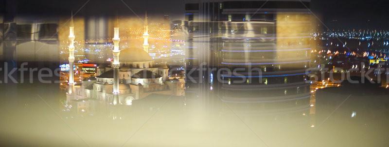 View of Fujairah City in the night. United Arab Emirates, Middle Stock photo © dashapetrenko