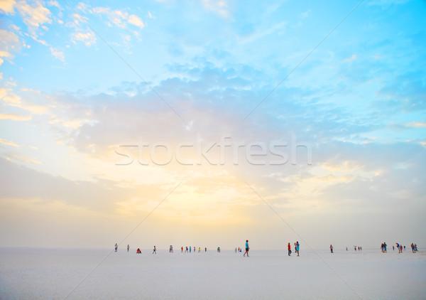 Dramatischen geheimnisvoll Szene Salz See Tunesien Stock foto © dashapetrenko