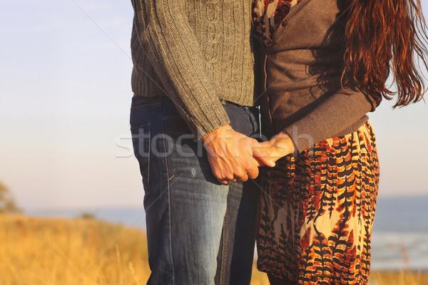Amor caminhada mar mão Foto stock © dashapetrenko