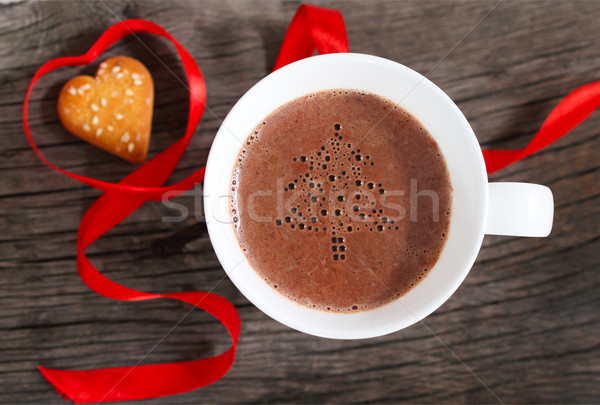 Mug chocolat chaud cookies décoré alimentaire Photo stock © dashapetrenko