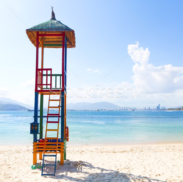 Open lifeguard tower, Nha Trang, Vietnam Stock photo © dashapetrenko
