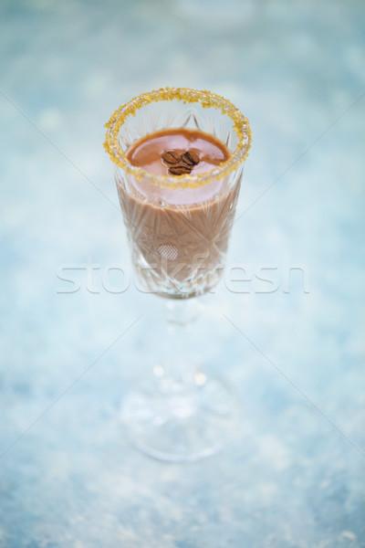 Alcol cocktail turchese acqua alimentare Foto d'archivio © dashapetrenko