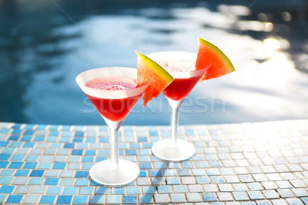 óculos melancia coquetel piscina fatias natureza Foto stock © dashapetrenko