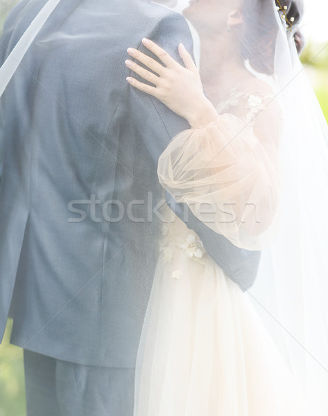 Wedding ceremony. Groom and bride together Stock photo © dashapetrenko