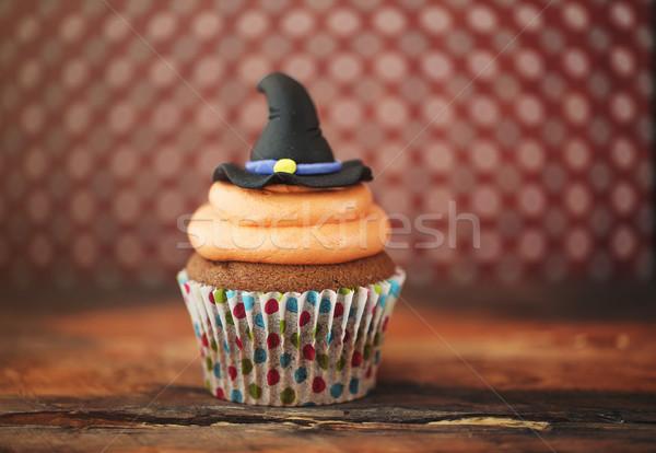 Halloween design homemade cupcake  Stock photo © dashapetrenko