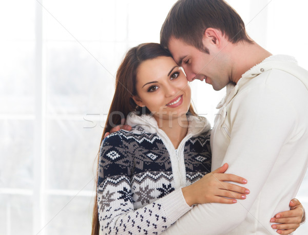 Couple in love at home relaxing Stock photo © dashapetrenko