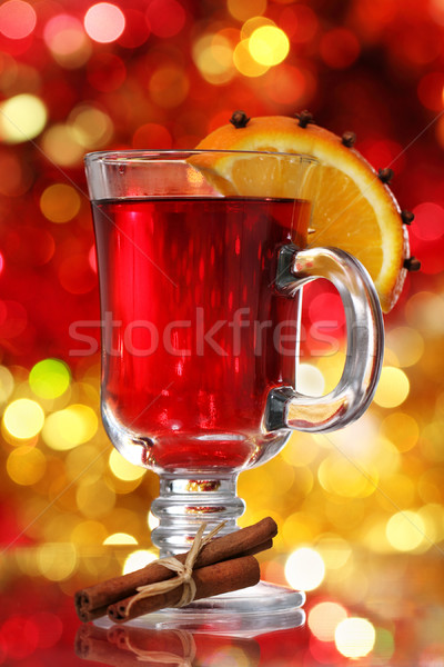 Orange and cranberry punch with spices  Stock photo © dashapetrenko