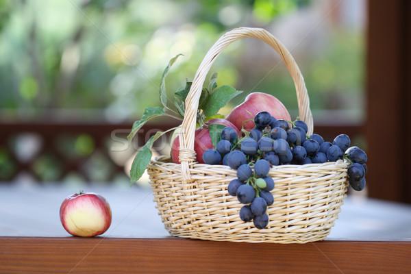 Grapes and apples Stock photo © dashapetrenko