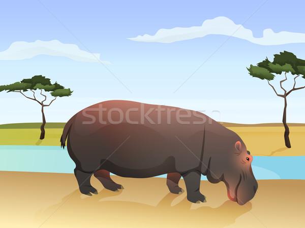 красивой африканских животного иллюстрация большой Сток-фото © Dashikka