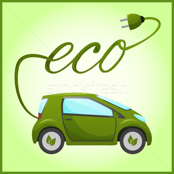 Electric car with eco design Stock photo © Dashikka