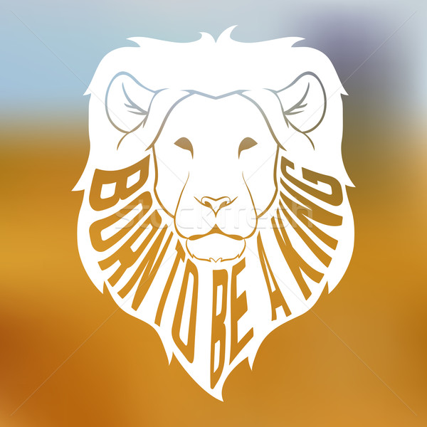 Afrika aslan kafa siluet metin Stok fotoğraf © Dashikka