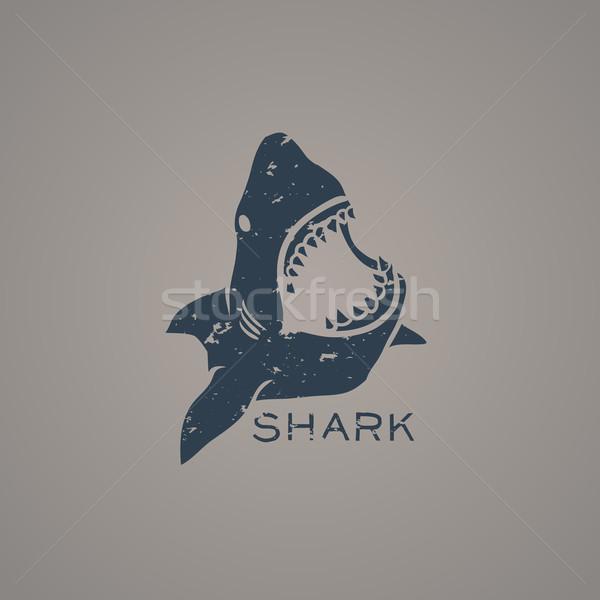 ロゴタイプ サメ ロゴ グランジ スタイル 自然 ストックフォト © Dashikka