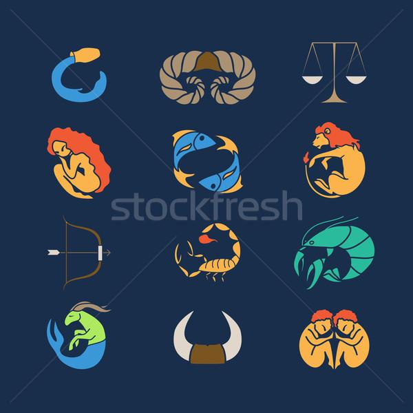 Zodiak set Stock photo © Dashikka
