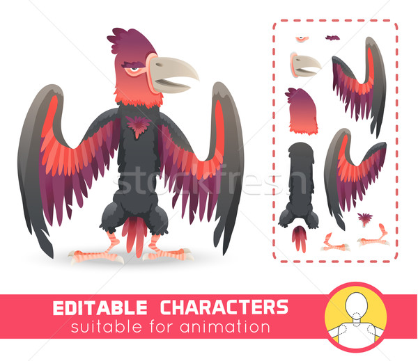 Big monster bird with huge beak and wings. Evil character. Suitable for animation, video and games.  Stock photo © Dashikka