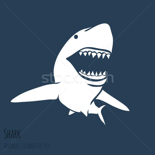 опасность акула набор глубокий синий Сток-фото © Dashikka