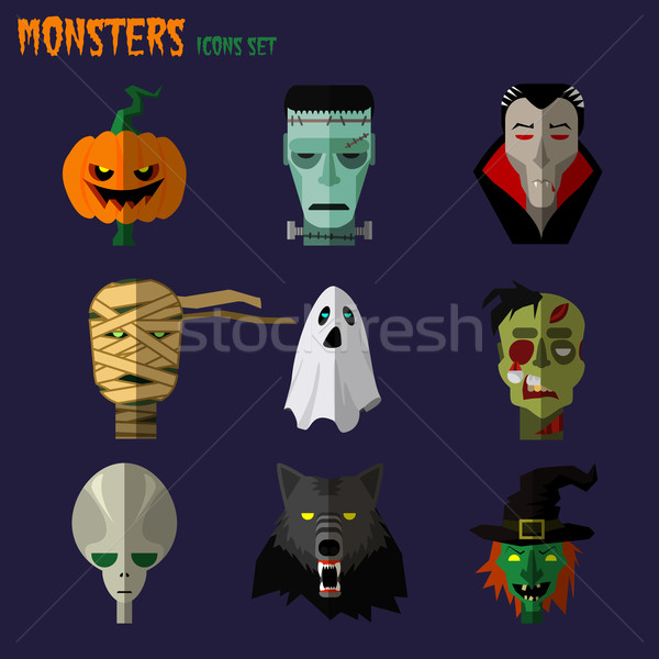 Monsters set of icons  Stock photo © Dashikka
