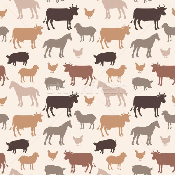Güzel çiftlik hayvanları renk soyut doğa Stok fotoğraf © Dashikka