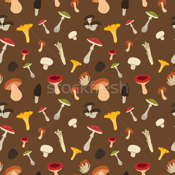 Mushroom seamless pattern Stock photo © Dashikka
