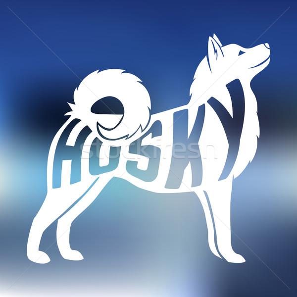 Creative dog silhouette Stock photo © Dashikka
