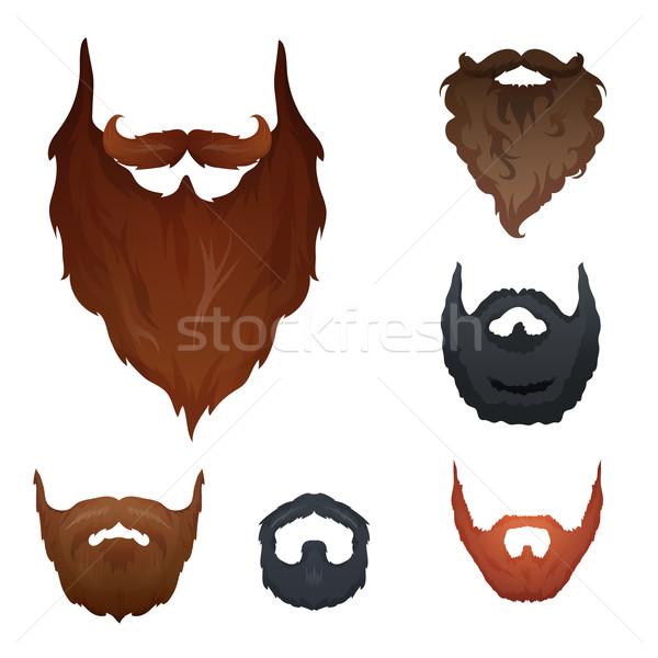 Ayarlamak farklı stil sakal vektör dizayn Stok fotoğraf © Dashikka