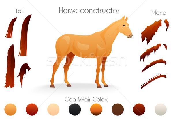 Create your own horse design withconstructor. Stock photo © Dashikka