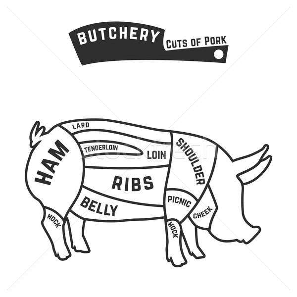豚肉 食品 肉 頭 グラフ ストックフォト © Dashikka