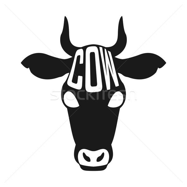 Creative дизайна власти внутри корова силуэта Сток-фото © Dashikka
