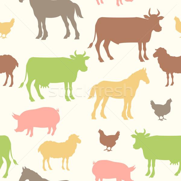 красивой сельскохозяйственных животных цвета аннотация природы Сток-фото © Dashikka